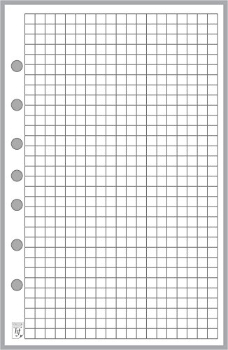 "Classic Size Graph Paper Refill, Sized and Punched with 7 Holes for Franklin Covey Classic Notebook (5.5"" x 8.5"")"