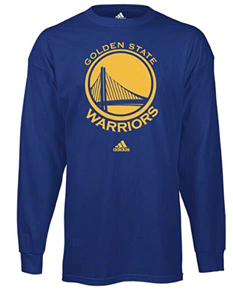 bf276b7e Amazon.com : Golden State Warriors Blue Long Sleeve Primary Logo T ...