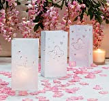 Luminary Bags Paper Two Hearts (12 Pack) Weddings/Bridal Showers/Party Supplies