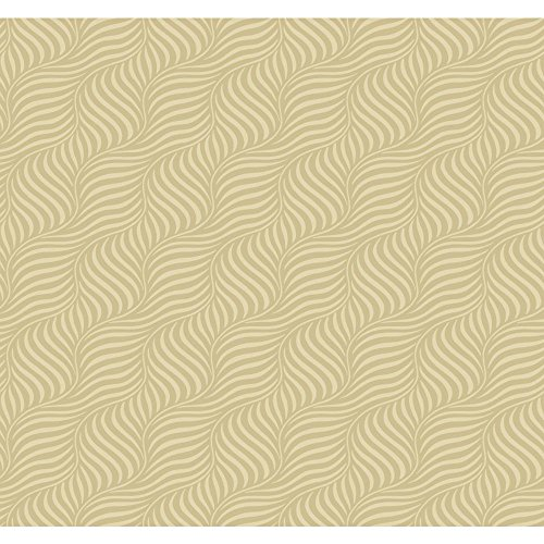 York Wallcoverings MS6480 Modern Shapes Cross Current Wallpaper, Golden Pearl, Beige (Garden Pearls Golden)