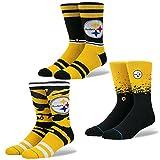 Stance Men's Steelers Football Sock 3 Pack
