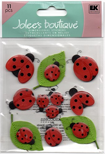 Jolee's Boutique Dimensional Stickers Cute Ladybugs Theme -