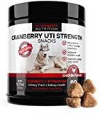 Cranberry for Dogs - Cranberry Pills for Dogs Chews Bladder Support - Dog UTI Treatment food - Bladder Infection Relief, Urinary Tract Health, UT Incontinence, Immune System D Mannose - Made in USA