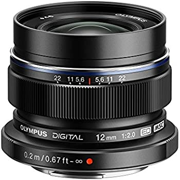 Olympus M. Zuiko Digital ED 12mm f/2.0 Lens for Micro 4/3 Cameras  (Black)