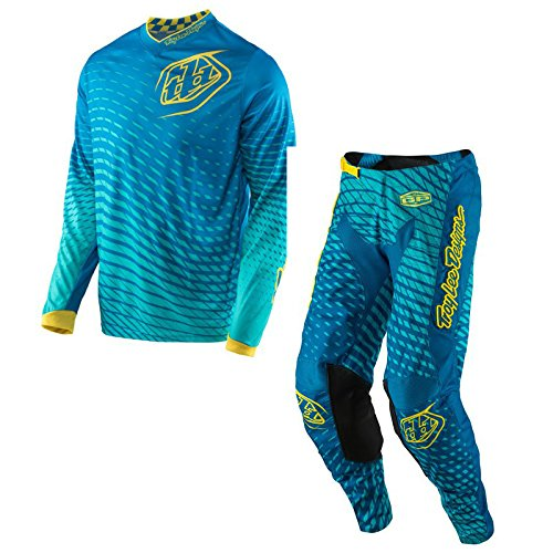 Troy Lee Designs - GP Tremor Blue/Yellow Jersey/Pant Combo - Size LARGE/34W