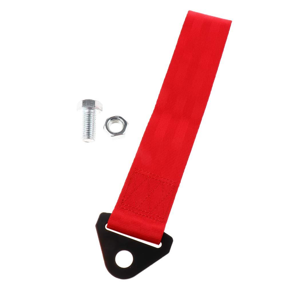 Gr/ün Dolity Auto-Abschleppgurt Stahlhalterung mit doppelt gen/ähten Polyesterband