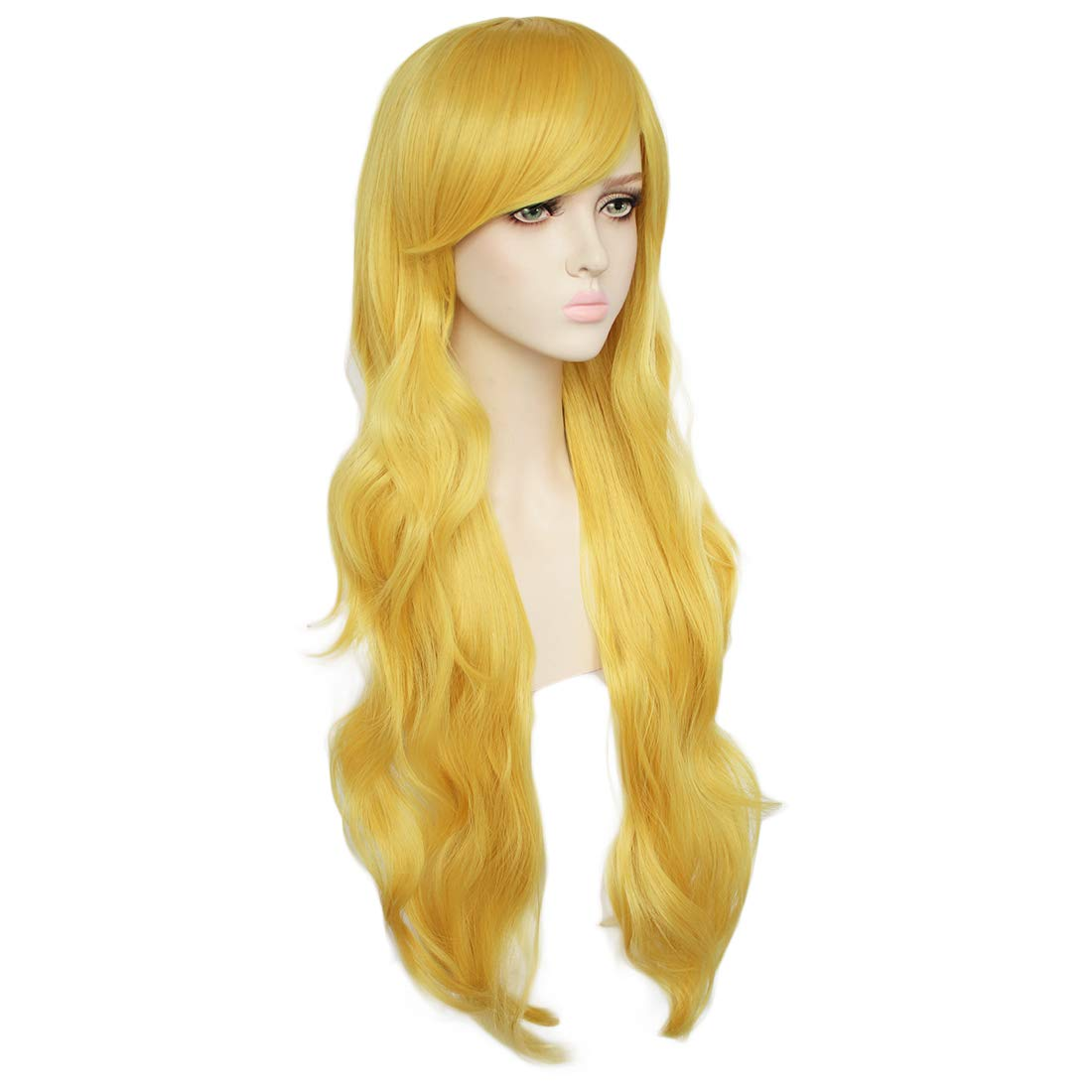 Amazon.com : JoneTing Long Yellow Wig Cosplay