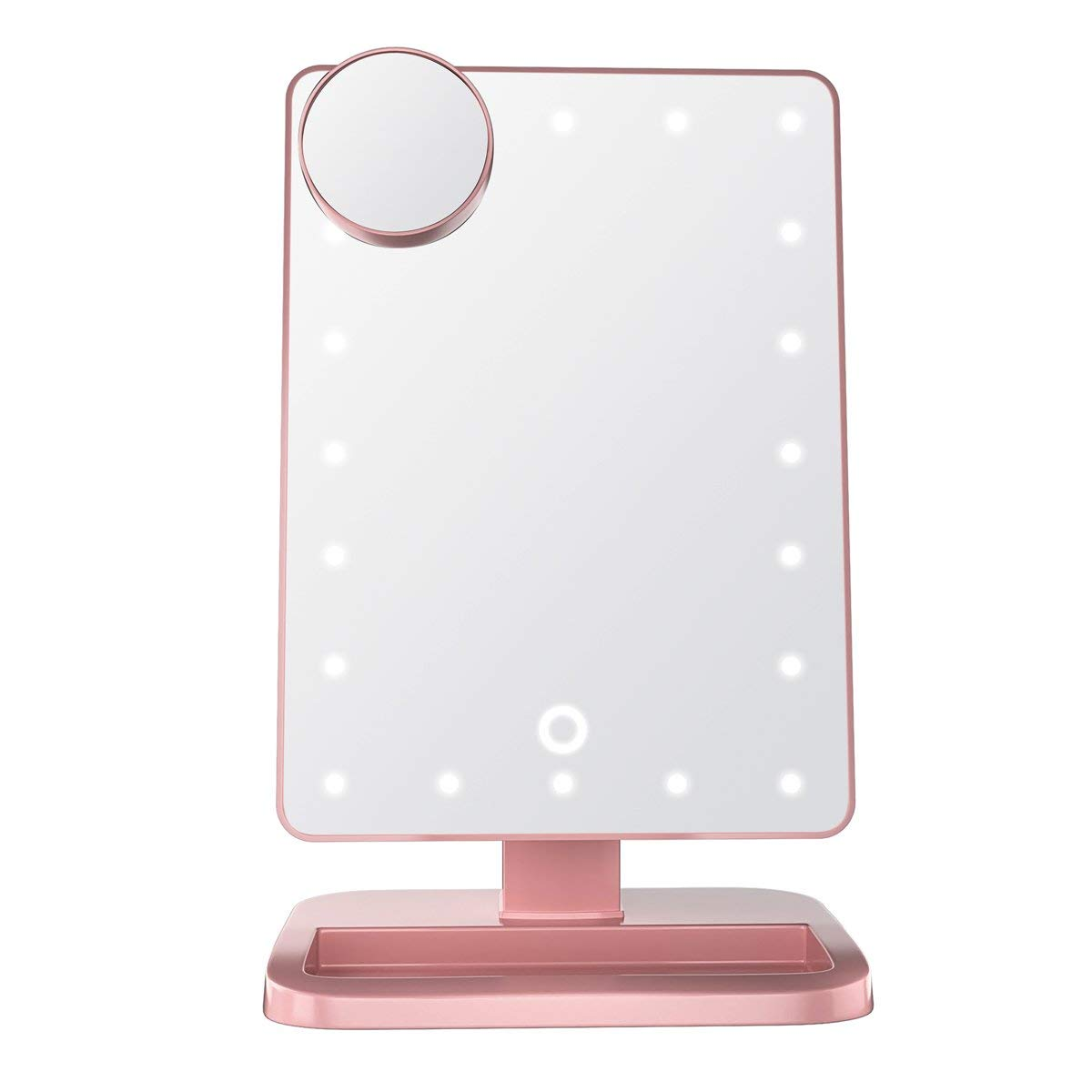 Impressions Vanity Hollywood Makeup Vanity Mirror with Lights and Bluetooth Speakers | Rose Gold Touch XL Dimmer LED Makeup Mirror with Bluetooth