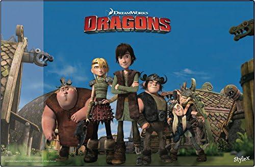 Dragons Schreibtischunterlage / Größe: 38,5x58,5cm