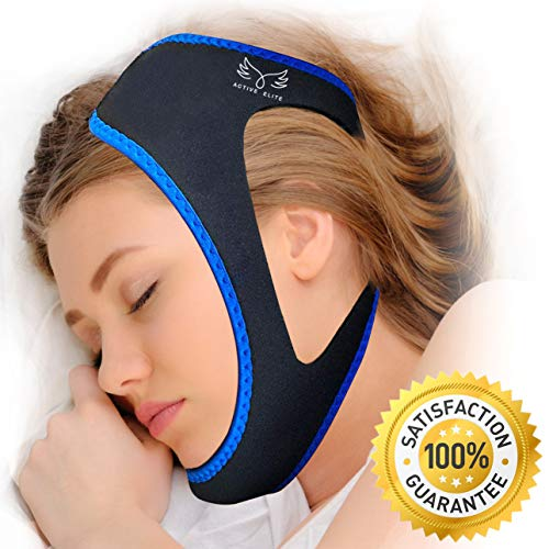 Anti Snoring Chin Strap - Most Effective Anti Snoring Solution and Anti Snoring Device, Sleep Aid and Stop Snore for Men and Women, Highest Quality - by Active Elite