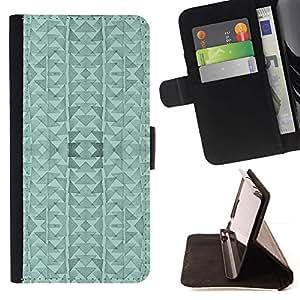 Momo Phone Case / Flip Funda de Cuero Case Cover - Triángulo del Arte abstracto moderno - Sony Xperia Z5 Compact Z5 Mini (Not for Normal Z5)