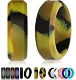 Knot Theory Silicone Wedding Ring for Men and Women, Size 11.5~12 (6mm Bandwidth), Camouflage Bevel Design