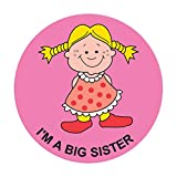 PDC Healthcare 59707289 Label,I'M A BIG SISTER, 2'' Circle, Pink (Pack of 250)