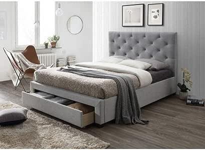 Poppy Beige Queen Storage Drawer Bed