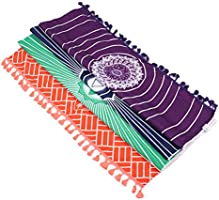 RuiYi Arco Iris Playa Estera Manta de mandala Algodón Rectángulo Bohemia Indio Chakra Colgar en La Pared Tapestry Stripe Yoga de La Toalla con Borlas ...