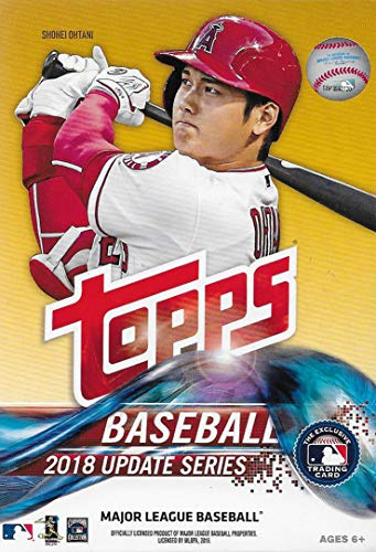 - 2018 Topps Update Series Baseball Factory Sealed Hanger Box 72 Cards per Box Including 2 Retail Exclusive Legends in The Making Cards Possible Autos, Game Used Relic Cards More