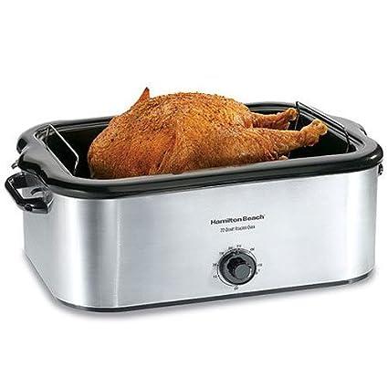 amazon com hamilton beach 32229 22 quart roaster oven stainless