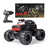 Gizmovine Mud Monster Remote Control RC Truck RC Car 1:16 Scale Rechargeable with Mud Splatter Paint Job (Red)