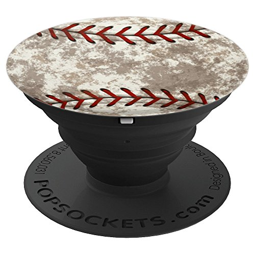 Baseball Distressed Ball Grunge Sports Team Texture - PopSockets Grip and Stand for Phones and Tablets