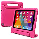 iPad Air 2 kids case, COOPER DYNAMO Heavy Duty Children's Rugged Tough Bumper Hard Protective Case Cover with Built-in Handle, Stand & Free Screen Protector for Apple iPad Air 2 (Pink)