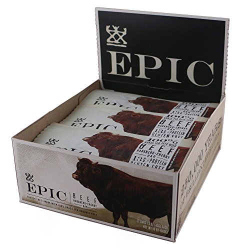 Epic All Natural Meat Bar, 100% Grass Fed, Beef, Habanero & Cherry, 1.5 ounce, 12 count