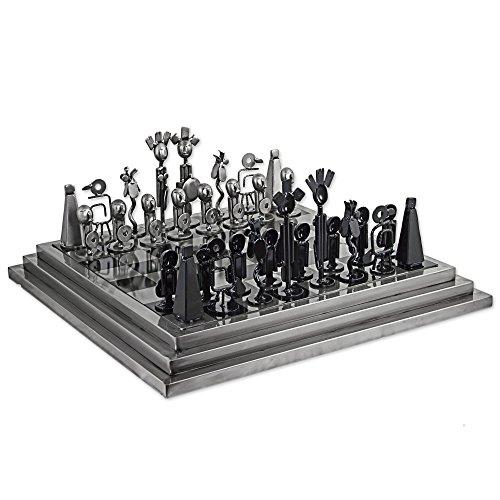 NOVICA Auto Part Chess Set, Pre-Hispanic Battle in ', - Auto Chess Set