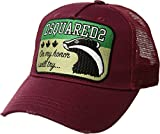 DSQUARED2 Men's Skunk Baseball Cap Bordeaux One Size