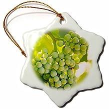 Danita Delimont - Grapes - Grape vines at Mission Hill Family Estate, Canada. - 3 inch Snowflake Porcelain Ornament (orn_205913_1)