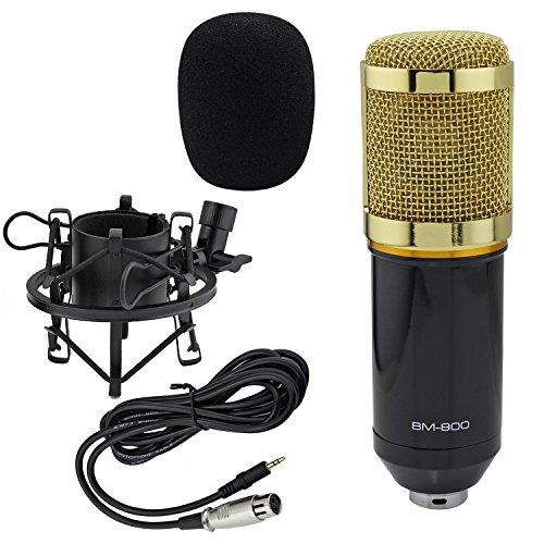 Price comparison product image Ocr TM BM-800 Uni-directional Professional Studio Broadcasting & Recording Condenser Microphone Mic with Shock Mount Black