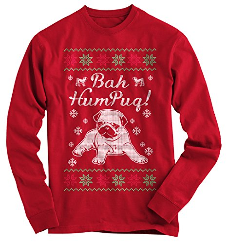 Gnarly Tees Men's Pug Ugly Christmas Sweater