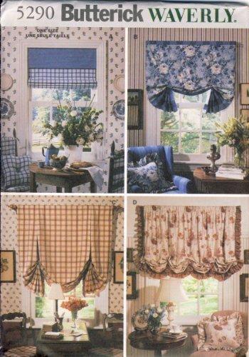 Butterick Sewing Pattern 5290 - Use to Make - 4 Variations of Window Treatments - Butterick Window Treatment Patterns