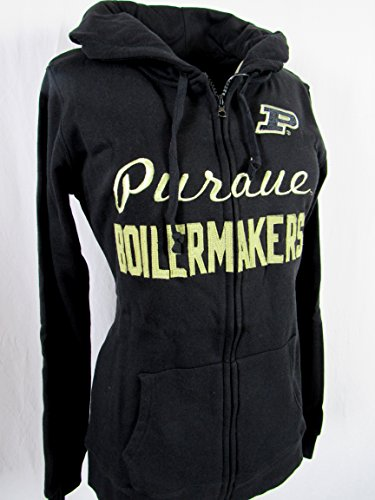 Cover One Purdue Boilermakers Womens Size Large Embroidered Full Zip Hooded Sweatshirt APUR 4 L