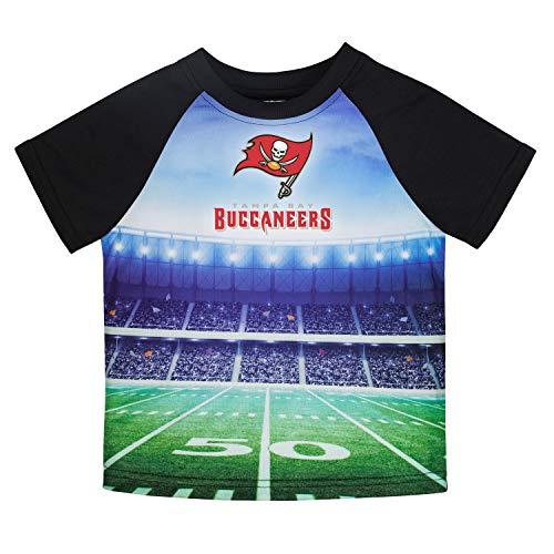 NFL Tampa Bay Buccaneers Unisex Short-Sleeve Tee, Black, 2T