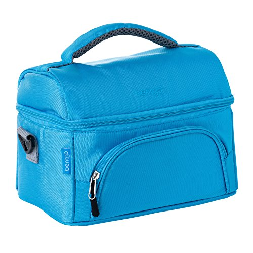 Pottery Snack - Bentgo Lunch Bag (Blue) - Insulated Lunch Tote for Work and School with Top and Main Compartments, 2-Way Zipper, Adjustable Strap, and Front Pocket - Fits All Bentgo Lunch Boxes and Other Containers