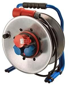 as-Schwabe 15160 - Enrollador de cables   CEE 290 mm ø, 25 m H07RN-F 5G1.5, Anti Twist, metal