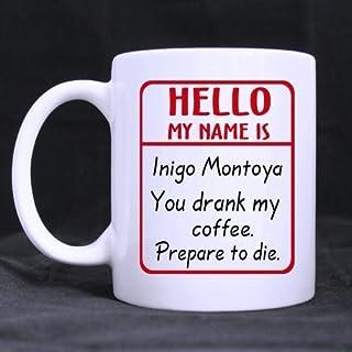 Divertente caffè Tazze per women-hello My Name Is citazioni ceramica tazze di caffè 311,8gram regali di Natale