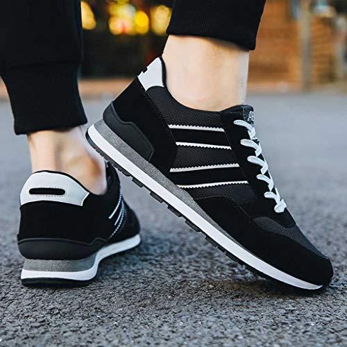 Sneakers Scarpa Per Sport 2019 Casual Running Scarpe Pigre Nero Men Moda Bianco Breathable Ragazzo Uomo up Outdoor Pelle Shoes Respirante Pu Ihengh Lace Ginnastica R0AxXX