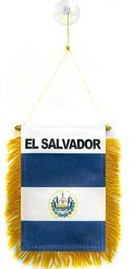 El Salvador Mini bandera – 1 docena de unidades