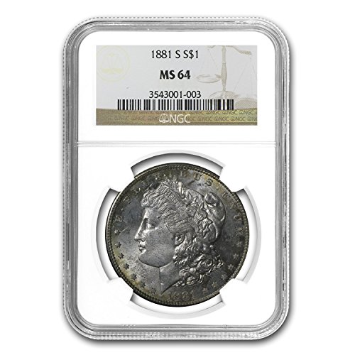 1881 S Morgan Dollar MS-64 NGC $1 MS-64 NGC