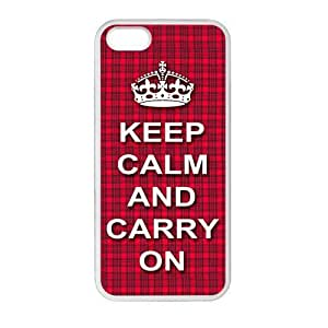 DIY you own phone case-- Design Keep Calm and Carry on cell Plastic and TPU Case for iPhone5 iPhone5S