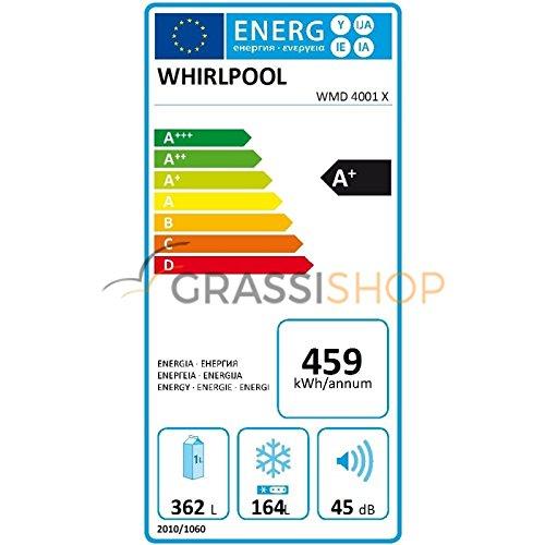 Whirlpool WMD 4001 X Independiente 526L A+ Acero inoxidable nevera puerta lado a lado - Frigorífico side-by-side (Independiente, Acero inoxidable, ...