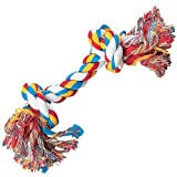 Zanies Cotton Knotted Rope Bone Dog Toy, 10-Inch, My Pet Supplies