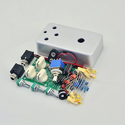 Delay-1 DIY Guitar Pedal Kit With 1590B Aluminum Metal Stomp Box Case Enclosure