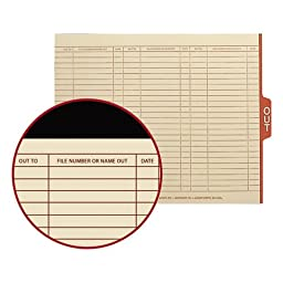 SMD61910 - Smead 61910 Manila End Tab Out Guides with Printed Form
