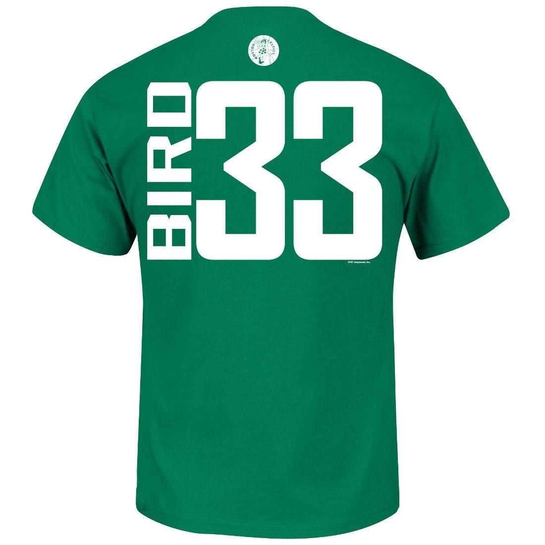 e403dc212 Amazon.com : VF Larry Bird Boston Celtics Majestic NBA Custom Throwback  Player T-Shirt : Sports & Outdoors