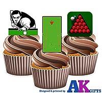 12x Billard Tisch Snooker Player Kugeln mix- 12Esspapier Kuchen...