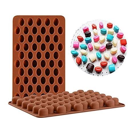 YHLVE 55 Molde de silicona para chocolate – granos de café, chocolate y dulces postre