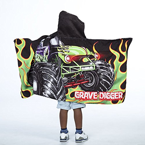 Towel Jam - Monster Jam Grave Digger Kids Hooded Towel