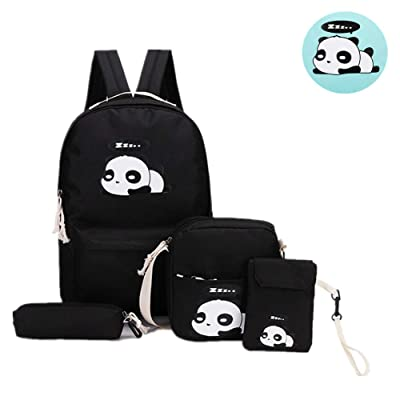 myonly Female Girl Fashion Cute Panda Backpack Backpack Primary School Travel Casual Computer Backpack Shoulder Bag Student Bag Simple Casual Student Bag: Toys & Games