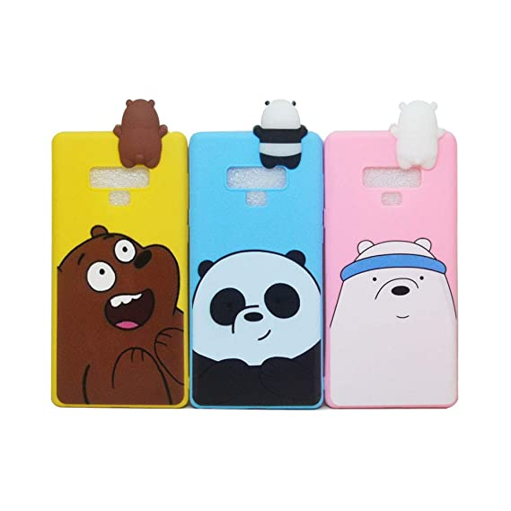 new style c04c0 4673c Amazon.com: Abbery 3-Pack 3D Cartoon Cute We Bare Bears Soft ...